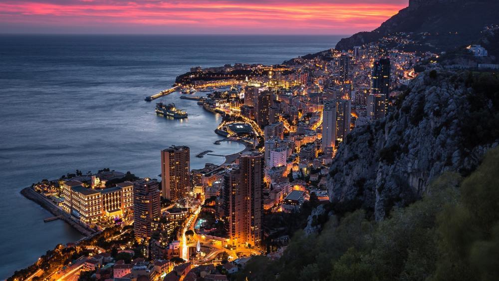 Lights of Monte Carlo wallpaper