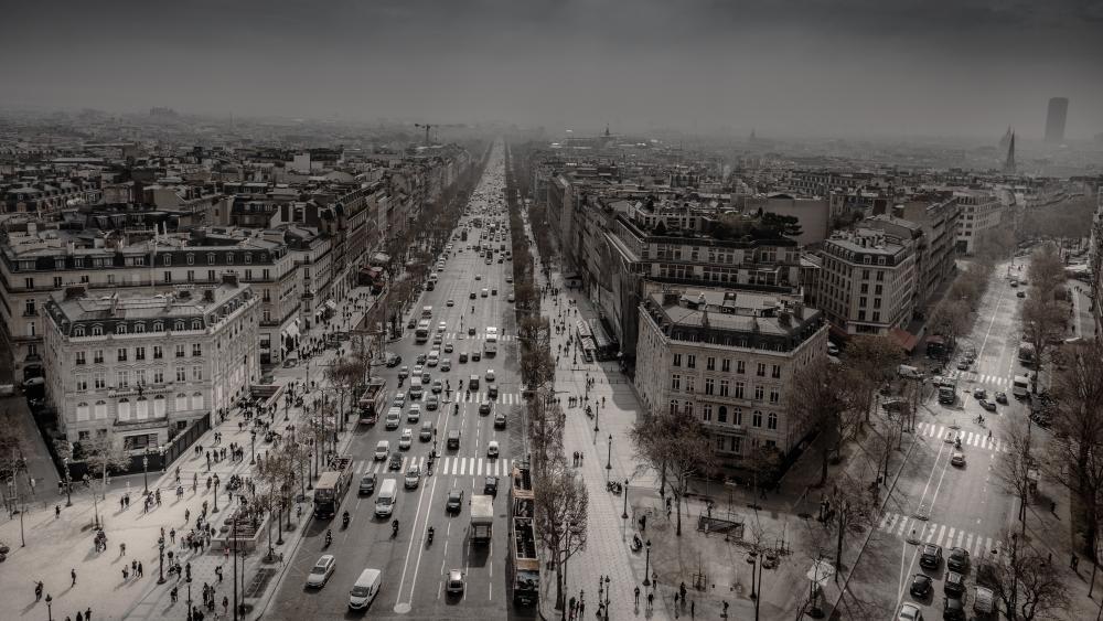 Avenue des Champs-Élysées Monochrome Photo wallpaper