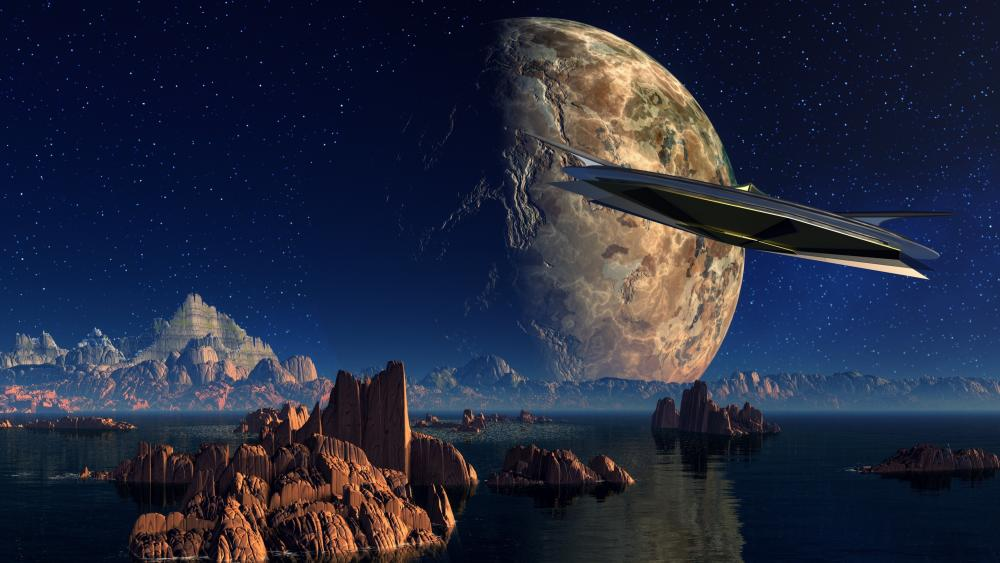 Scifi landscape wallpaper