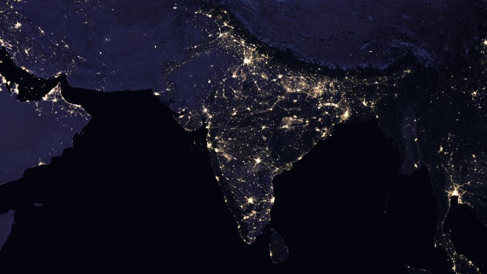 Night Lights of India wallpaper