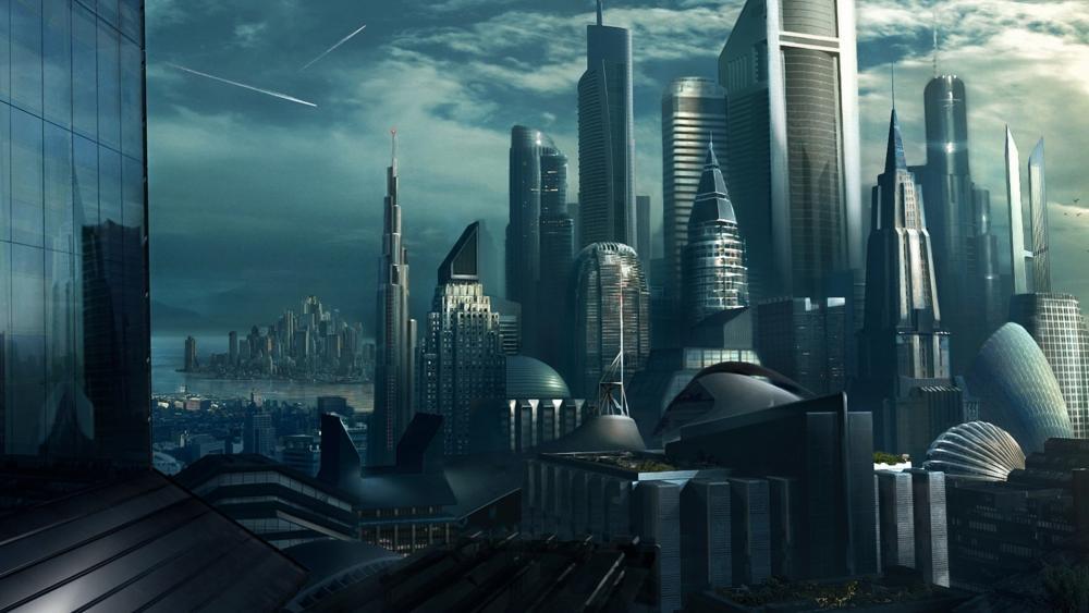 Futuristic skyscrapers wallpaper