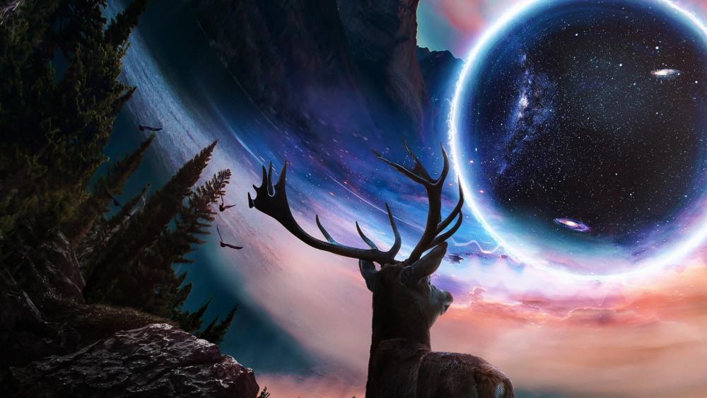 Vision of a deer wallpaper