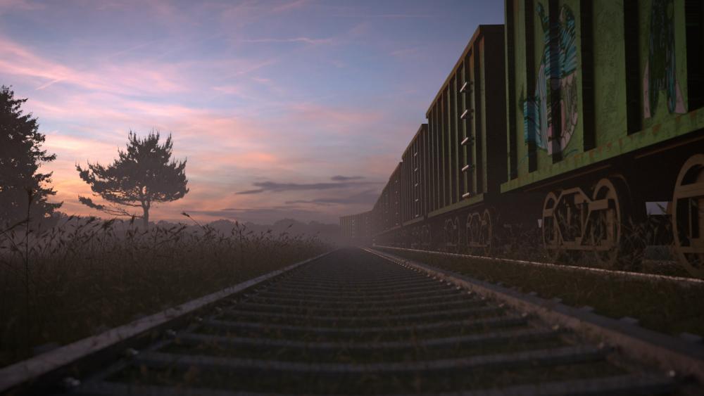 Abandoned Train wallpaper