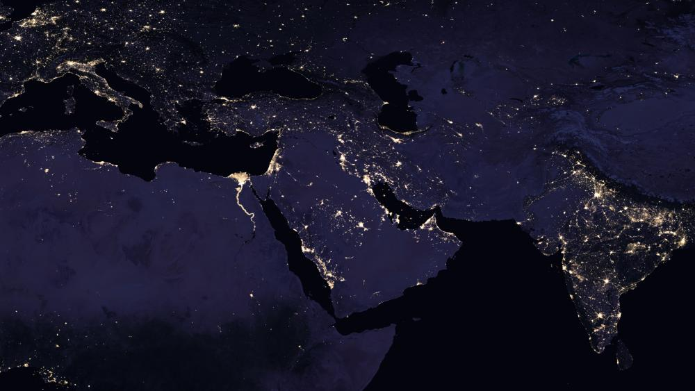Night Lights of the Middle East wallpaper