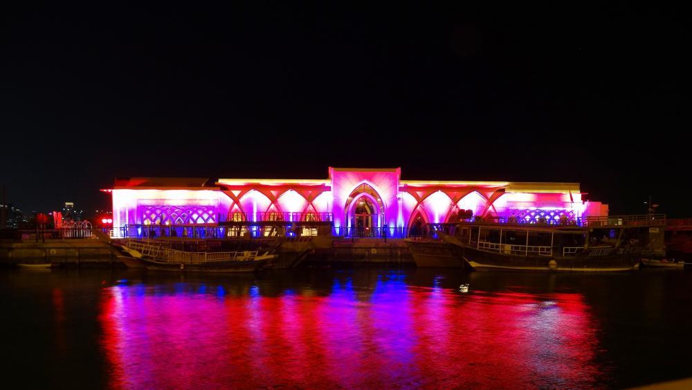 Harbor of Doha wallpaper