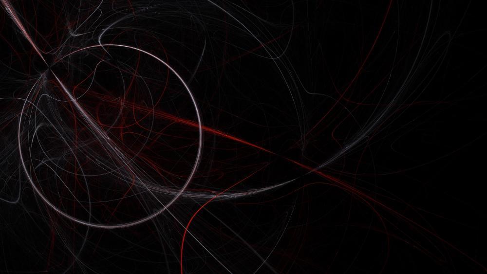 Light circle wallpaper