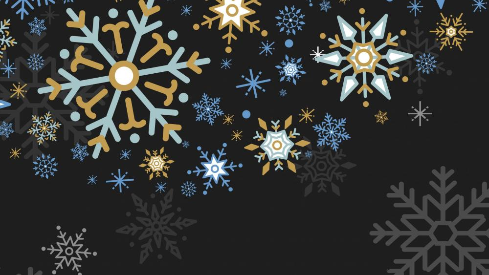 Snowflakes graphics wallpaper