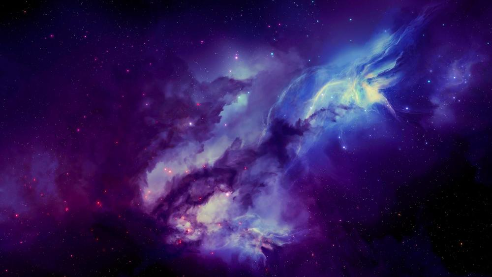 Purple Nebula wallpaper