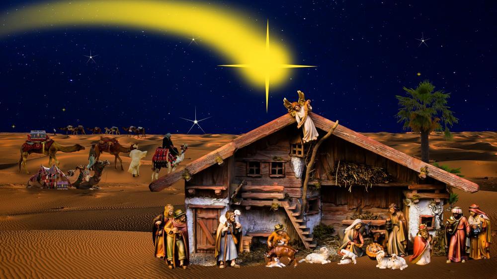 Jesus Nativity Scene wallpaper