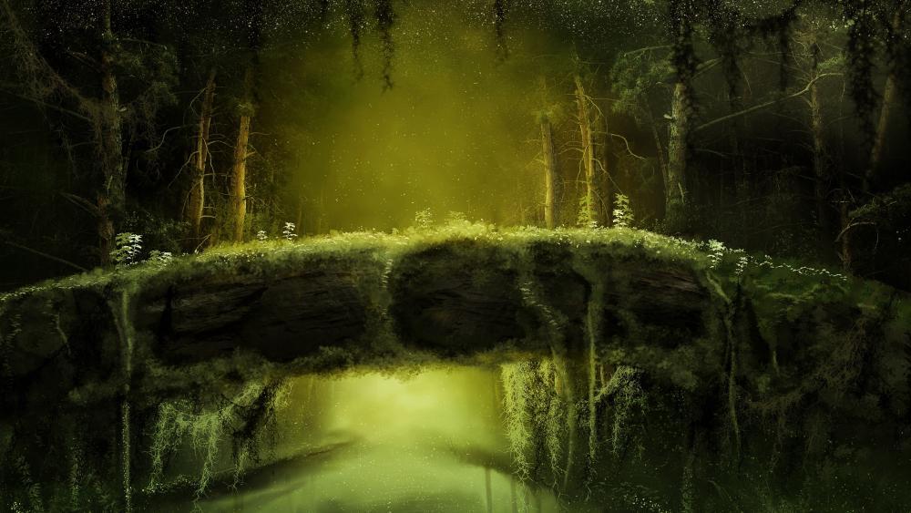 Fantasy jungle wallpaper