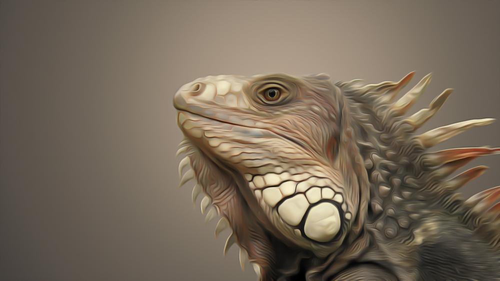 Iguana painting art wallpaper