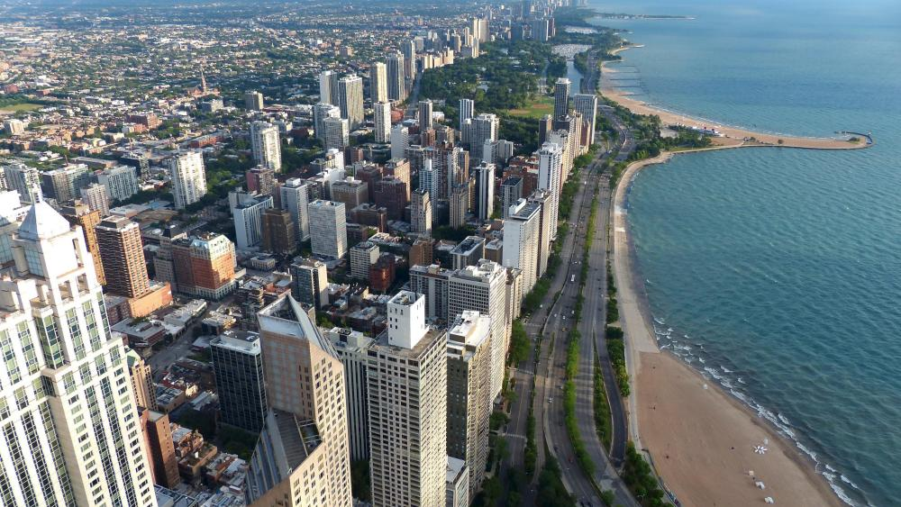Cityscape Along Lake Shore Drive wallpaper