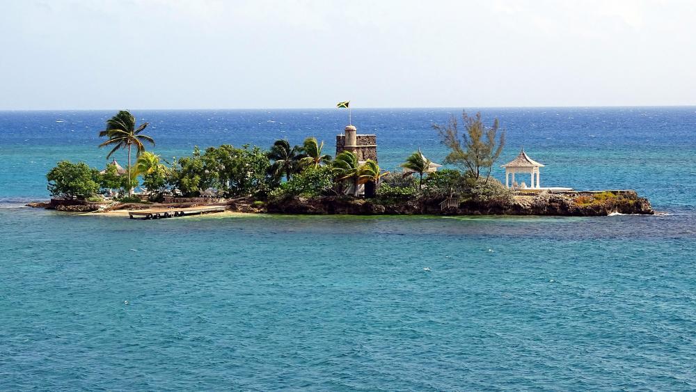 Private island in Jamaica wallpaper