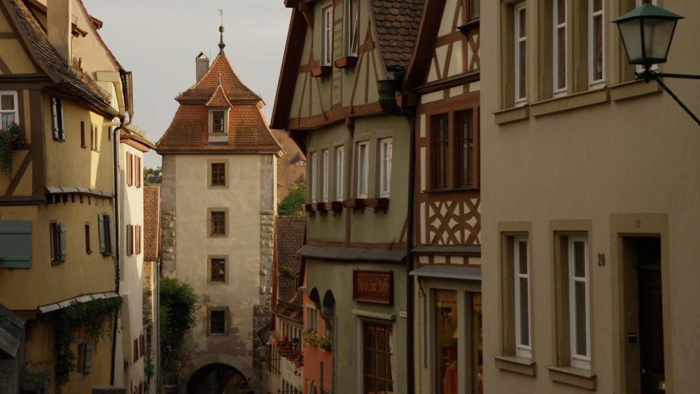 Koboldzellersteig and Spittalgasse (Rothenburg ob der Tauber) wallpaper