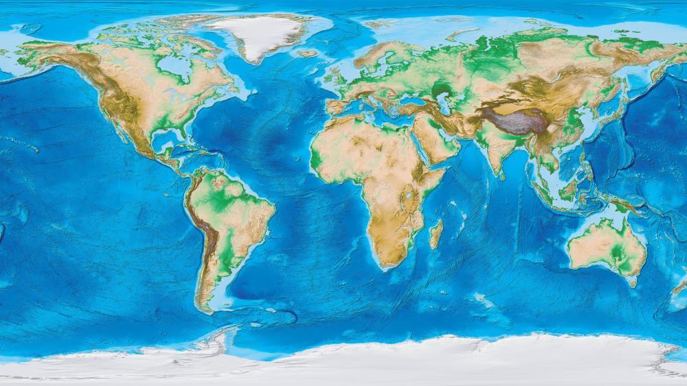 Relief map wallpaper