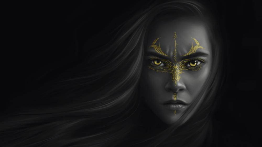 Warrior woman wallpaper