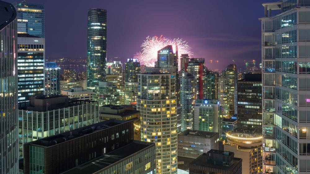 Fireworks in Vancouver wallpaper