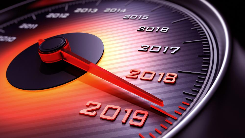 Happy New Year speedometer wallpaper