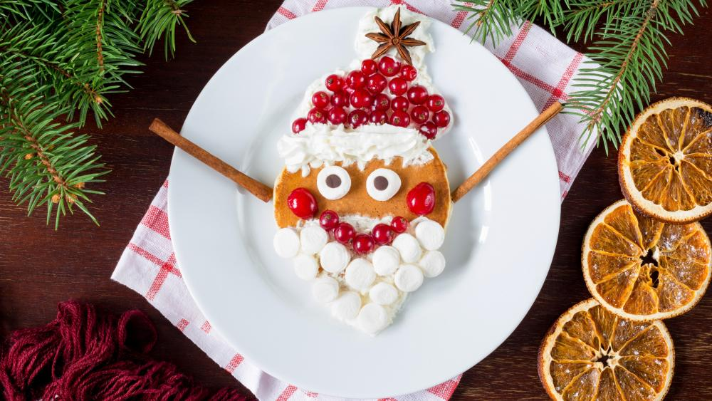Santa Claus dessert wallpaper