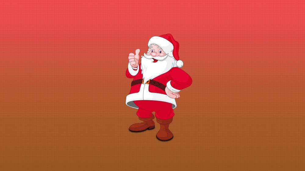 Santa Claus on gradient background wallpaper