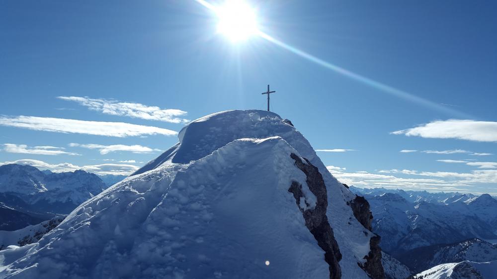 Summit cross wallpaper