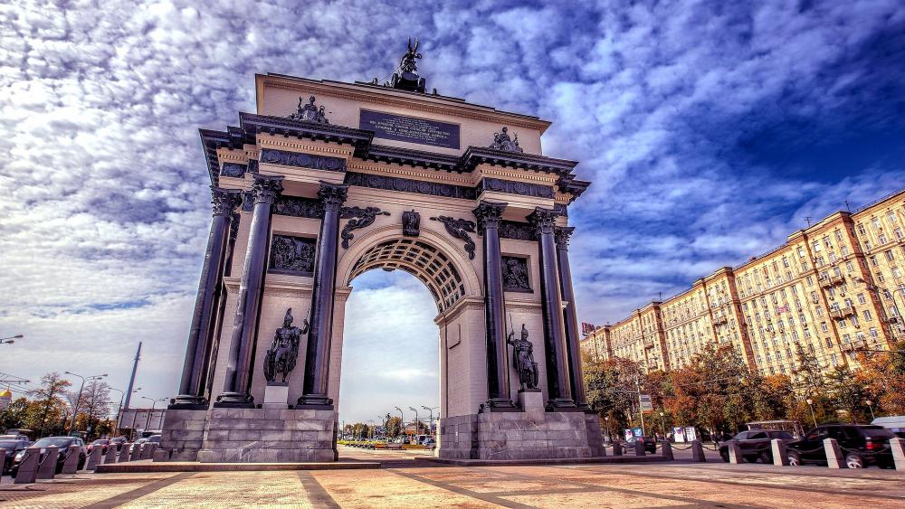 Triumphal Arch of Moscow wallpaper