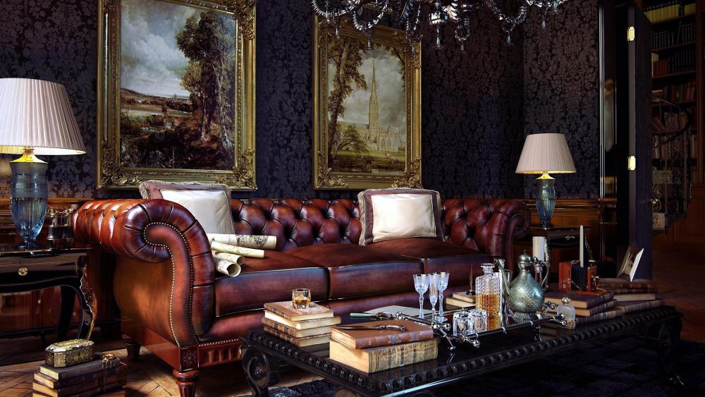 Leather Sofa wallpaper