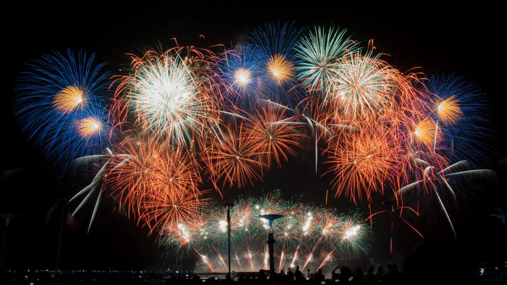 Fireworks at the SM Mall of Asia wallpaper