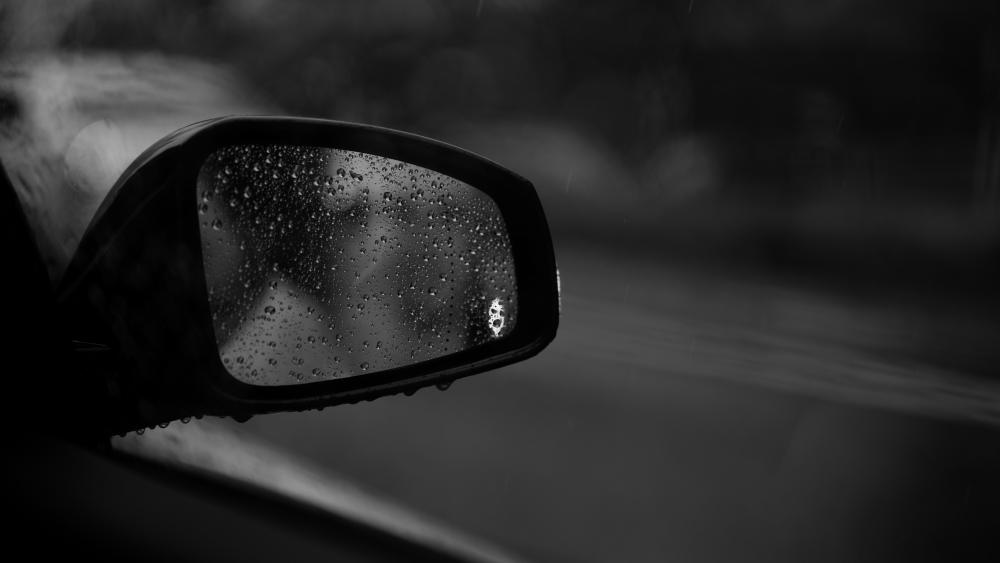 Ghost in the rearview mirror wallpaper