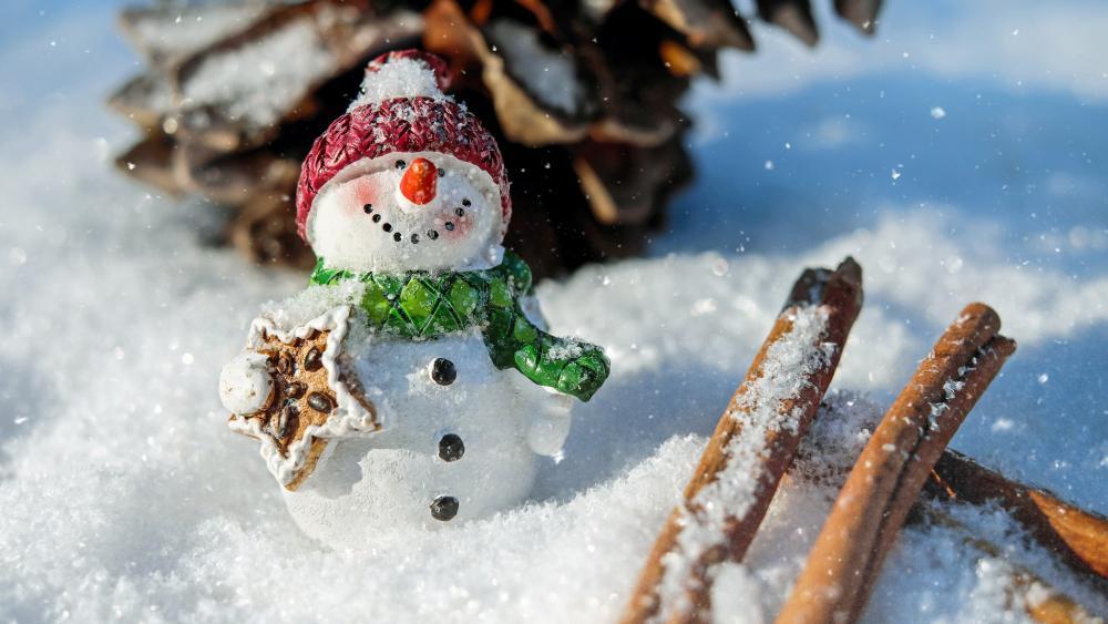 Snowman figure wallpaper