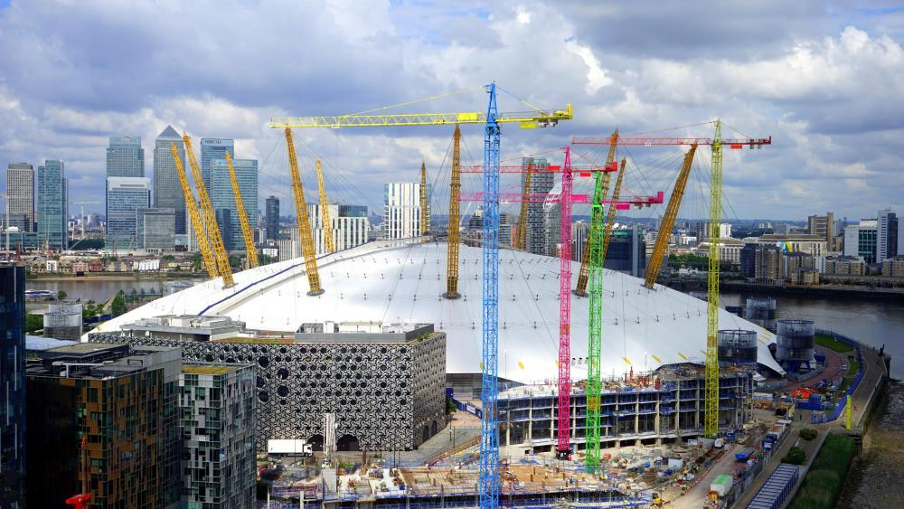 The O2 Arena During Construction wallpaper