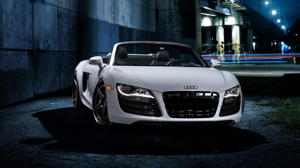 White Audi R8 cabriolet wallpaper