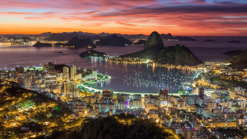 Rio de Janeiro at sunrise wallpaper
