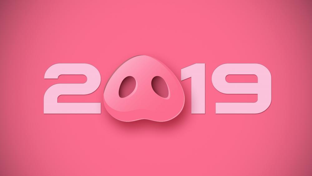 2019 Pig snout wallpaper