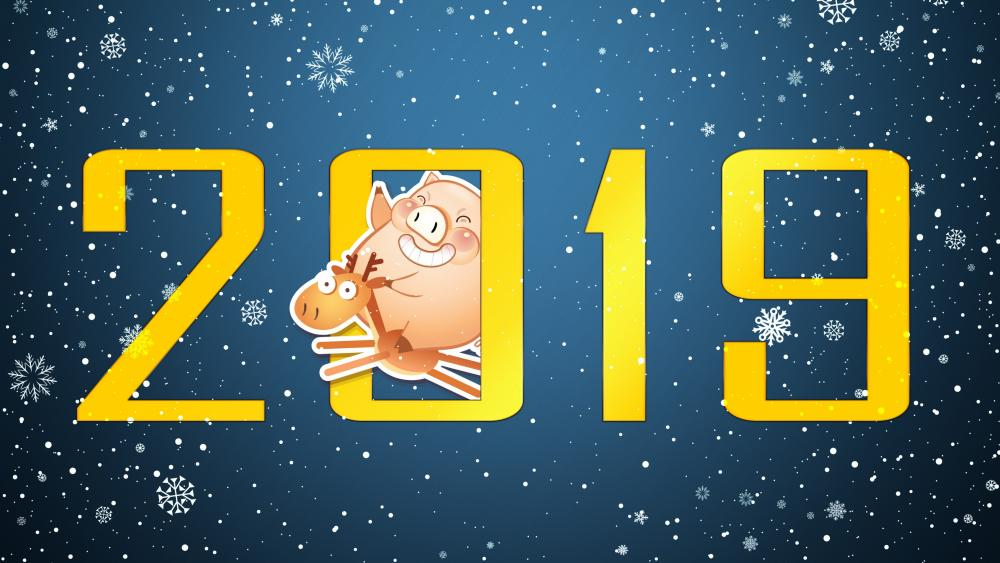 Chinese New Year of the Pig 2019 wallpaper