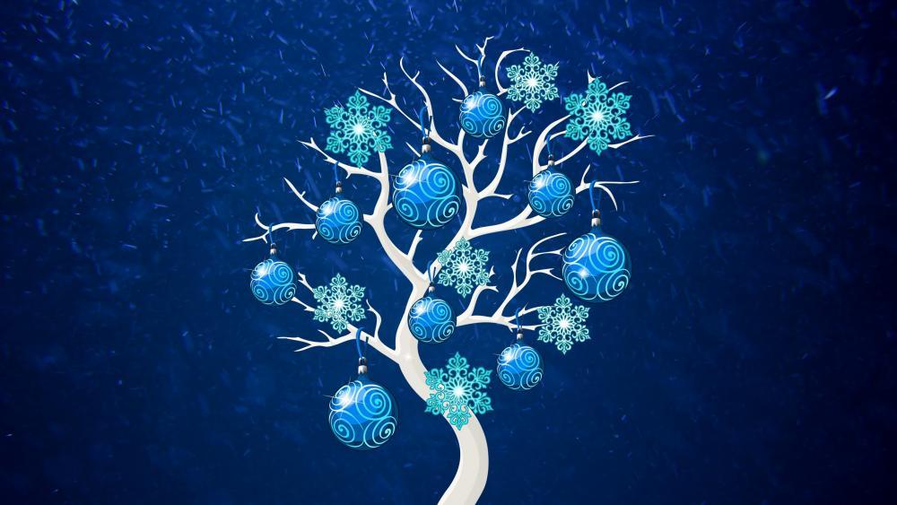 Blue Christmas Tree wallpaper
