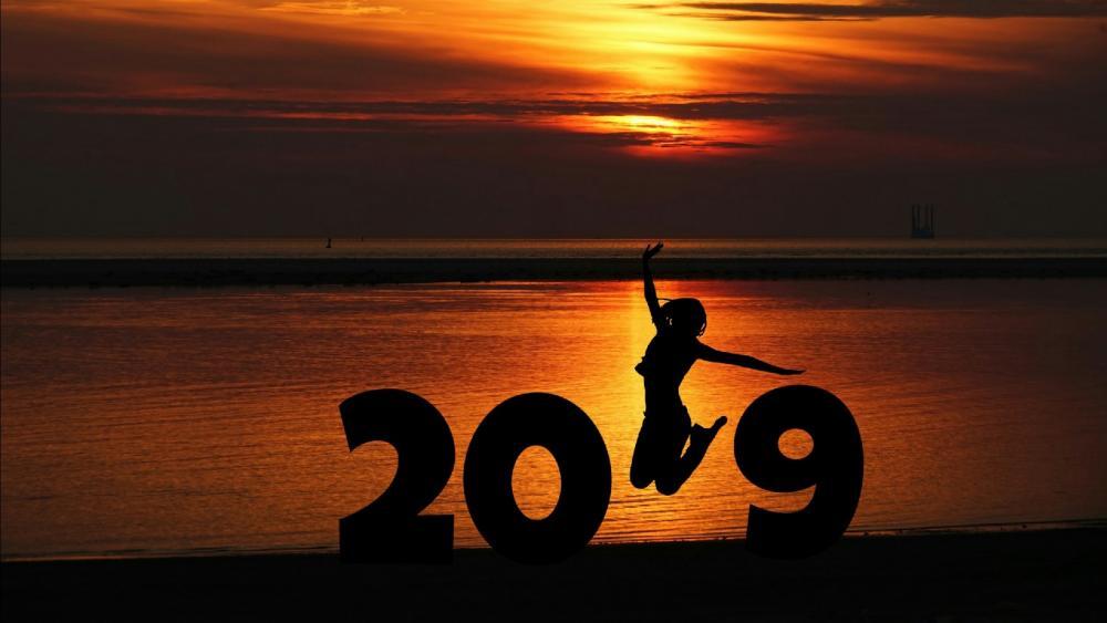 2019 New Year Jump wallpaper