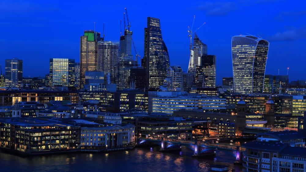 London's  skyscrapers wallpaper