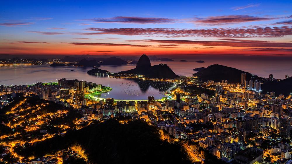 Rio de Janeiro at dawn wallpaper