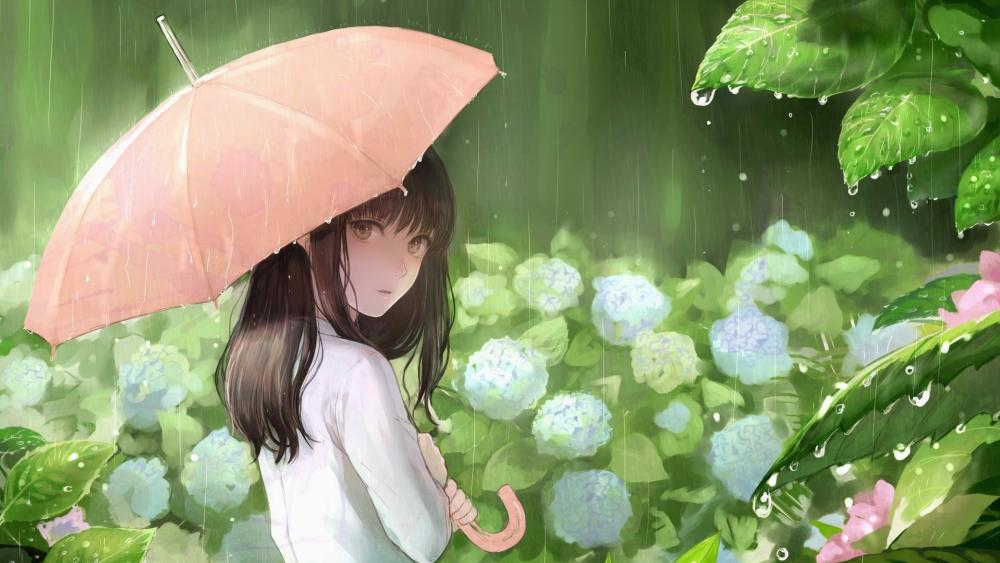 Enjoy the rainy season wallpaper