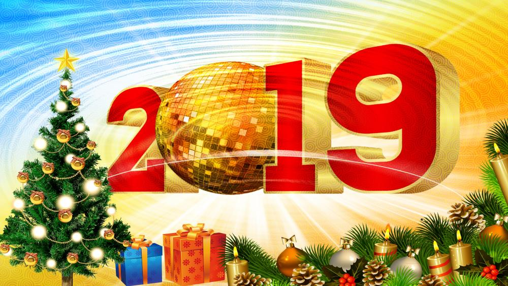 2019 New Year's Eve party wallpaper