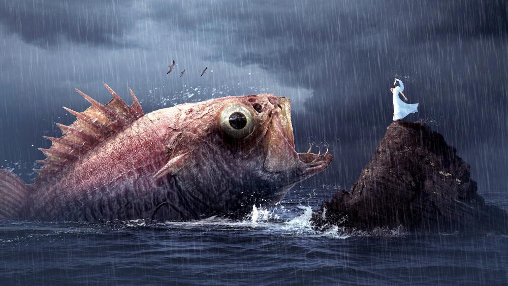 Big fish fantasy scenery wallpaper