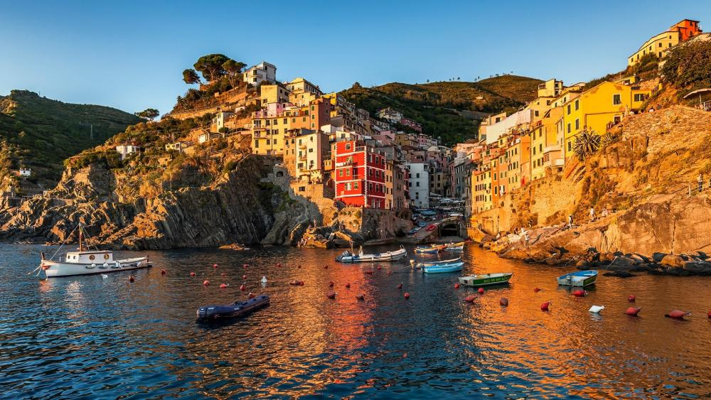 Manarola from the sea wallpaper