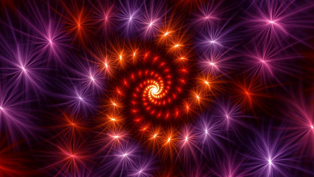 Fireworks vortex wallpaper