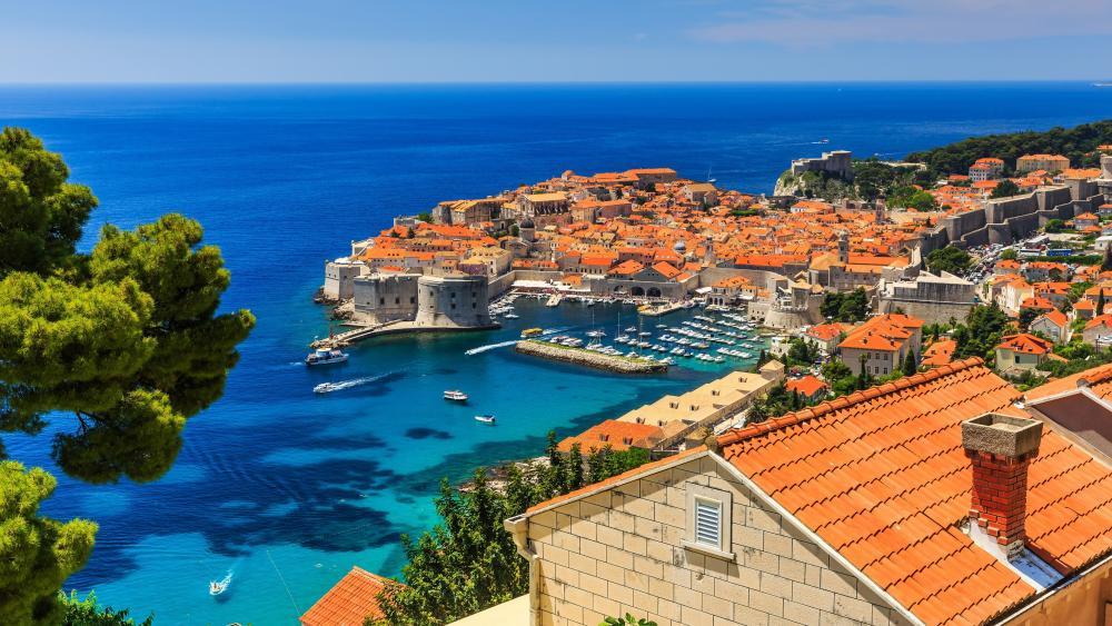 Dubrovnik and the Adriatic Sea wallpaper