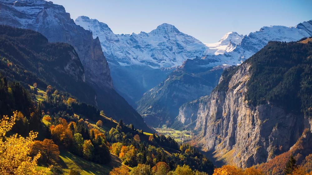 Lauterbrunnen valley wallpaper