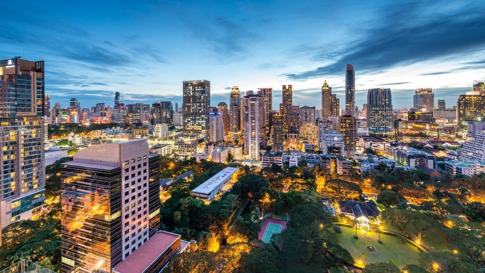 Bangkok view wallpaper