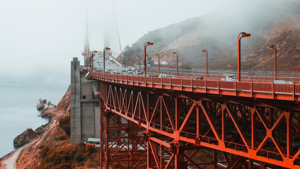 Fog Over the Golden Gate wallpaper