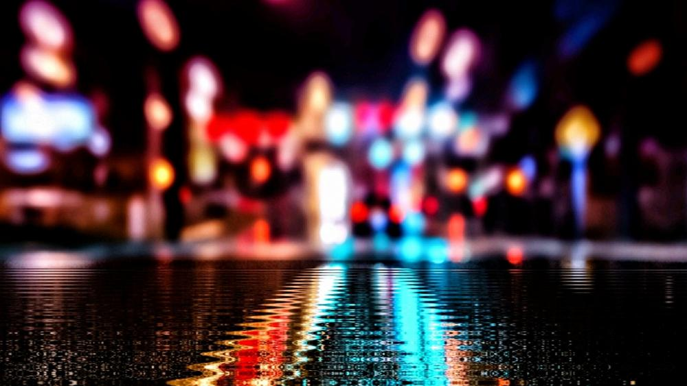 Rainy street wallpaper