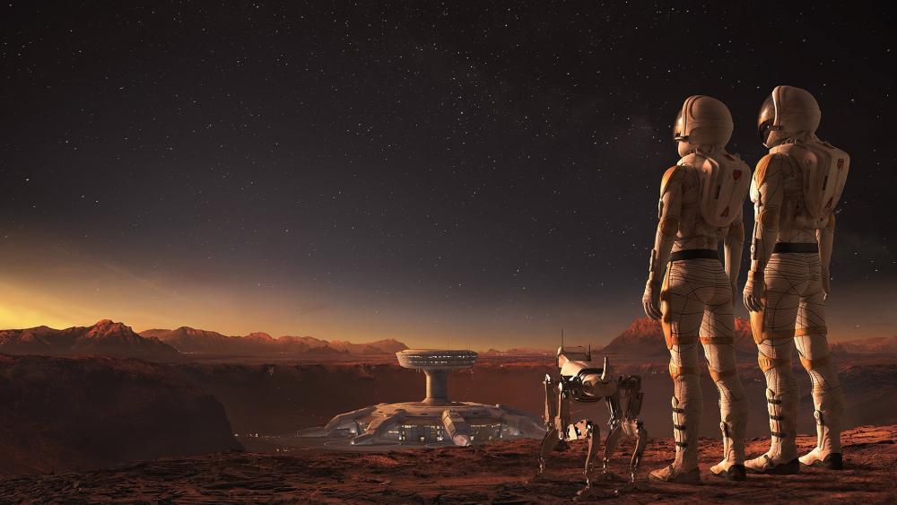 Colonization of Mars Sci-fi art wallpaper